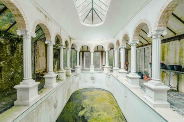 abandoned swimming pool | France